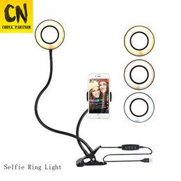 Özçekim Halka Fotoğraf Geliştirme Işık + Cep Telefonu Tutucu Standı Canlı Akışı ve Makyaj için LED Masa işık Kamera Işık iphone Android