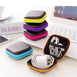 Hard Toys Australia - Headphones Case PU Leather Earphone Storage Bag 5 Colors Hard Zipper Mini Earbuds Bag Storage Case Carrying Pouch