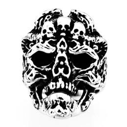 $enCountryForm.capitalKeyWord UK - FANSSTEEL STAINLESS STEEL punk vintage mens womens JEWELRY FAMILY GHOST SKULL SIGNET RING MEDALLION SKELETON GOTHIC BIKER RING FSR20W62
