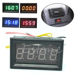 digital dashboard cars Canada - Hot Sale Car Motorcycle Accessory 12V 24V Dashboard LED Display Digital Clock Drop shipping