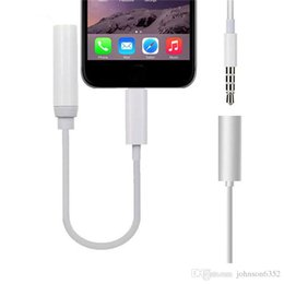 Aux Connectors Australia - New Earphone Headphone Jack Adapter 10.2 Converter Cable Lighting to 3.5mm Audio Aux Connector Adapter Cord for i7 7 Plus Converter Adapter