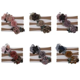 korean baby flowers Australia - New Korean Baby Set Elastic Flower Hairband Bow Hair Accessories 3pcs   lot