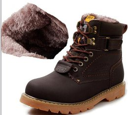Cowhide Martin Boots Australia - High Quality Cowhide Brand Martin Boots Men Waterproof Outdoor Hot Leather Boots Warm Snow Boots Casual Outdoor Hiking shoes Plus Size 4-13