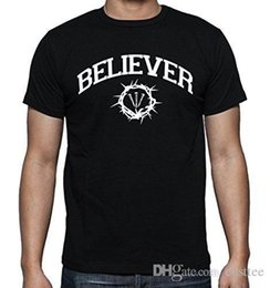 55516766 2017 Hot Sale Fashion Men's Printed BELIEVER Crown of Thorns Graphic Design  T-Shirt Mans Fashion Novelty Short Sleeve Tee Tops
