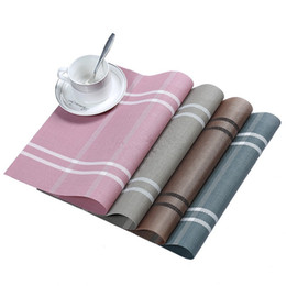 check pad 2019 - Checked Table Mat Washable Dining Mats Tableware Lattice Placemats Heat Resistance Bowl Pad Table Decoration LLA240 chea