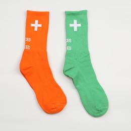 $enCountryForm.capitalKeyWord NZ - High QualityDesigner Brand High Stree Stockings Men Women Socks Fashion Underwear Green Orange Letter Print Casual Cotton