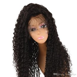 Full Lace Wig Curly 6a UK - 6A Grade Brazilian Hair 150 Density Long Lace Front Wig Human Hair Glueless Full Lace Human Hair Wigs Curly For Black Women
