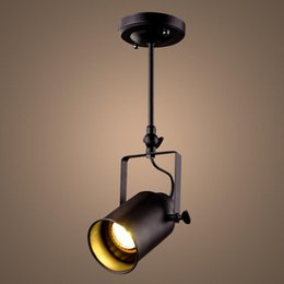 $enCountryForm.capitalKeyWord Australia - Vintage LED Ceiling Light Loft Black Metal Lamp Shade Ceiling Lamp Cafe Coffee Cloth Store Drop Light Fixture Lighting