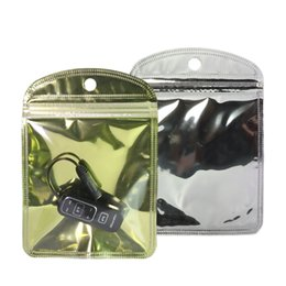 $enCountryForm.capitalKeyWord NZ - 10x15cm(4x6in) Mobile Accessories pouches Clear Shiny Foil with hang hole Flat Gift earphone wire package bags
