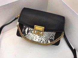 Black plum dress online shopping - New arrival Alligator Two tone designer women Shoulder bags Soft Cowhide Genuine leather Fashion Handbag High quality Factory