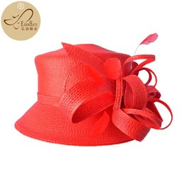 fiber garden NZ - Kentucky Derby Hat Womens Knit Formal Church Braided &Races Hat PP Braid Hat S10-3707