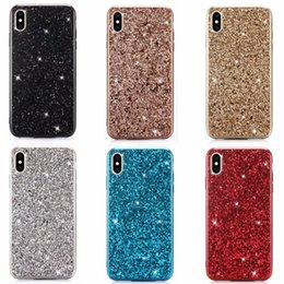 Discount iphone luxury metallic - Luxury Sequin Plating Case For Iphone XS MAX XR X 7 8 Plus Electroplate Confetti Flake Foil Chromed Soft TPU Bling Spark