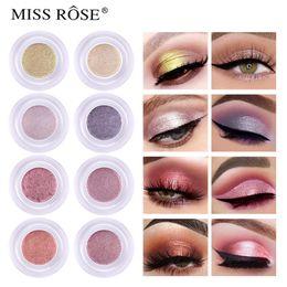 Dark green eyeshaDow online shopping - MISS ROSE Single Shimmer eyeshadow eye shadow glitter eyeshadow powder pigment waterproof Long lasting sombras eyes makeup