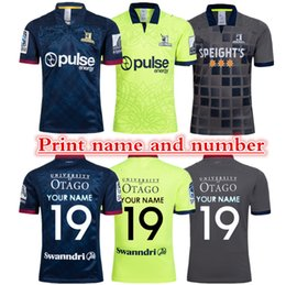 Wholesale 2019 Highlanders Super Rugby Home Jersey New Zealand Chiefs Highlanders Blue Zealand Highlanders Rugby S XL can print