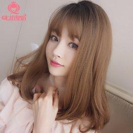 $enCountryForm.capitalKeyWord Australia - Wig Woman Atmosphere Fringe Chemical Fibre Hair Headgear False Hair Can