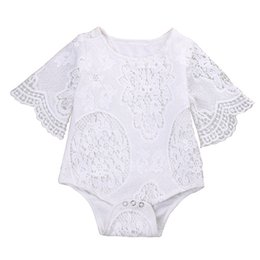 $enCountryForm.capitalKeyWord UK - Chinese factory top quality 0-2years summer girl baby kids clothing O-Neck Lace Solid jumpsuits Rompers white