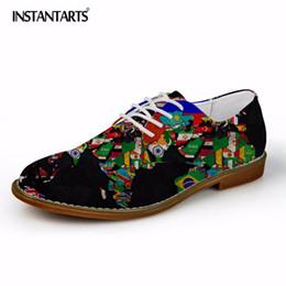 $enCountryForm.capitalKeyWord Australia - INSTANTARTS High Quality Men's Casual Leather Shoes 3D Black Print Men's Flats Synthetic Oxfords Shoes Dress Business