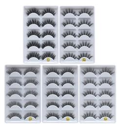 False Eyelashes Wholesale Free Shipping Australia - Factory Direct DHL Free Shipping Eye Lashes Thick false Eyelashes 5 pairs of false eyelashes F810 F820 F830 F840 F850