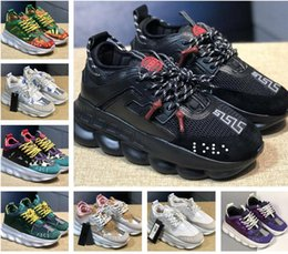 New Chain Reaction ACE Luxury Chainz Love Sneakers Sports Fashion designer Casual Shoes black Trainer Lightweight Link-Embossed Sole on Sale