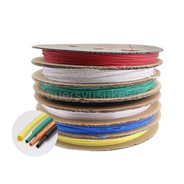 cable diameter Australia - 200M Diameter 0.6mm Heat Shrink Tubing White Red Green Blue Transparent Electrical Sleeving Cable Heat Shrinkable Tube Wrap 2:1 Shrink Ratio