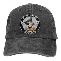 ecffbe80355 Cheap Formal Hats UK - 2019 New Cheap Baseball Caps Explosives Detection K9  Mens Cotton Adjustable