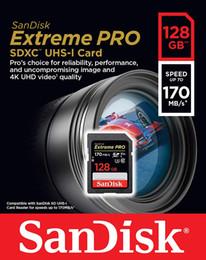 Cartão SD UHS-I Extreme Pro SanDisk 128GB - C10, U3, V30, 4K UHD, Cartão SD 170MB / s - SDSDXXY-128G em Promoção