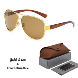 $enCountryForm.capitalKeyWord Australia - Metal Classic Women Men Sunglasses Mirror Brand Sun Glasses Female Driving Eyewear Vintage glass case Oculos De Sol with box and case