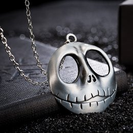 $enCountryForm.capitalKeyWord Australia - Vintage Gold Jack Skellington Pendant Necklace For Men Silver Chain Skull Necklace The Nightmare Before Christmas Jewelry Gifts