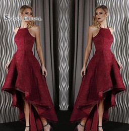 vestidos gala lace plus Australia - A Line Prom Homecoming Dresses 2020 Lace Graduation Dress Vestidos de gala Elegant Hi Lo Formal Cocktail Party Wear