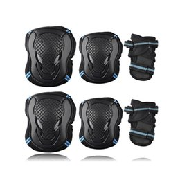 $enCountryForm.capitalKeyWord UK - 6pcs set Skateboard Ice Roller Skating Protective Gear Elbow Pads Wrist Guard Cycling Riding Knee Protector For Kids Men Women T190720