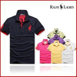 Polo Ralph Man Australia - American Fashion Sportswear Men's luxury designer short sleeve T-shirt summer style lapel polo shirt free shipping polo men ralph