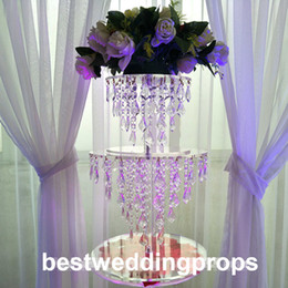 Crystal Table Decor Australia - 20cm tall to 120cm tall can choose )New style crystal candle holder table centerpieces for wedding decor acrylic candelabra decor704