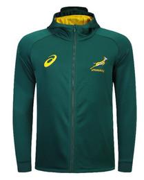 2019 África do Sul Casa Jersey SPRINGBOK JAQUETA JUSTA LATERAL Hoodies Springboks Sul Africano equipe nacional de rugby jerseys Jaqueta Com Capuz s-3xl em Promoção
