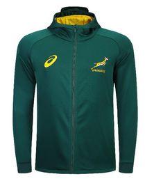 2019 Südafrika Home Trikot SPRINGBOK SIDE LINER JACKET Hoodies Springboks Rugby-Trikots aus Südafrika in der Nationalmannschaft im Angebot