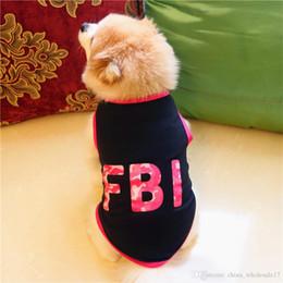 $enCountryForm.capitalKeyWord Australia - Pet Dog vest Clothing Cotton T shirt summer winter small large Puppy letter print halloween christmas costume