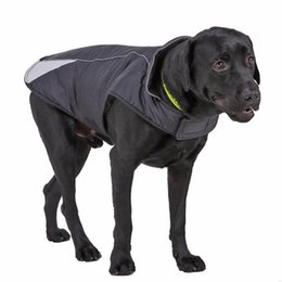 heated jackets NZ - Windproof Reflective Dog Jacket Winter Warm Padded Fleece Pet Coat Waterproof Dogs Clothes with High Heat Shrinking Collar