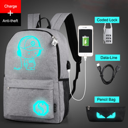 $enCountryForm.capitalKeyWord Australia - Raged Sheep School Backpack Student Luminous Animation School Bags For Teenager Usb Charge Computer Anti-theft Laptop Backpack Y19061102