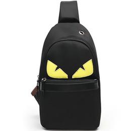 7a168f58cedd Cartoon Eye Bag UK - Devil day pack Monster eye chest bag Waterproof  polyester fashion sling