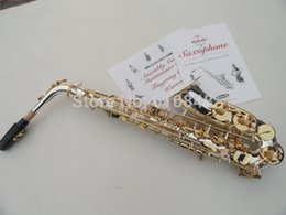 Lacquer Silver Australia - SUZUKI Alto Eb Saxophone High Quality Brass Silver Plated Body Gold Lacquer Key E-flat Sax New Musical Instruments With Case Mouthpiece