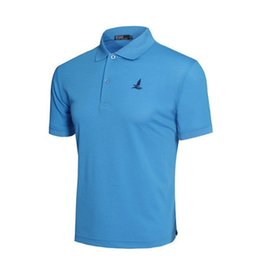 Polo Sportswear UK - Best Selling New Classic Fashion Style Golf Polo Blue Shirt Brand Men Summer Quick Dry Sport Short Sleeve Sportswear Workout Cotton T-shirt