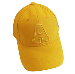 $enCountryForm.capitalKeyWord UK - Spring and autumn children's caps boys and girls visor tide letters embroidery hat baby baseball cap
