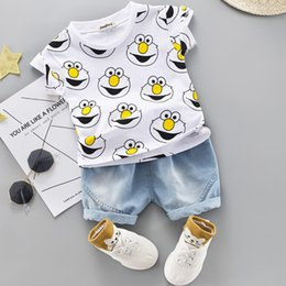 halloween t shirts for kids Australia - Baby Boys Clothing Sets Cute Summer T-Shirt Cartoon Children Boys Clothes Suit for Kids Outfit Denim Outfit Infant Boy Clothes