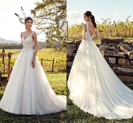 lace country plus size wedding dress 2019 - Western Modest Sexy Country Style Wedding Dresses Lace Spaghetti Straps Long Bohemian Bridal Gowns Plus Size Robe de mar