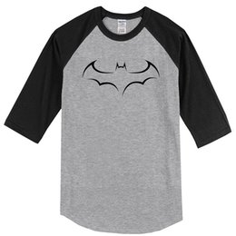 Long Tees Hot Men Australia - Hot Sale Raglan T-shirt For Men 2019 Summer Three Quarter Sleeve Animal Bat Fashion Men's T Shirt Homme Top Tee Shirt Harajuku