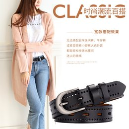 $enCountryForm.capitalKeyWord Australia - Ladies leather belts do not need to punch holes hollow belt students Korean version of retro casual belt clothing belt direct sales