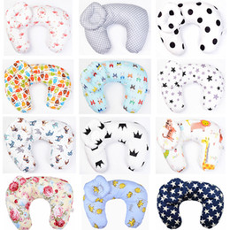 maternity cotton nursing Australia - Baby Nursing Pillows Maternity Baby U-Shaped Breastfeeding Pillow Infant Cuddle Cotton Toddler Feeding Waist Cushion 2pcs Set T200603
