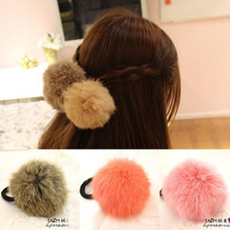 Rabbit Hair Ponytail Australia - Hot Sale Korean Style Girls Cute Trendy Soft Fake Rabbit Fur Elastic Hair Rope Hair Band Hair Accessories