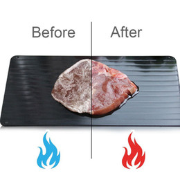 Fast Defrosting Tray Aluminum Plate Defrost Meat or Frozen Food Cooking S M L SIZE Defrosting Plate Board Defrost Kitchen TOOLS KKA7846 on Sale