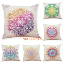 ethnic cushions covers Australia - New Paisley Bohemia Style Cushion Covers Geometric Printing Ethnic Flax Throw Pillow Case Sofa Car Seat Home Decorative