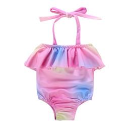 Swimwear Infant Australia - 2019 Brand New Toddler Infant Kids Baby Girls Multicolor Swimwear Swimsuit Bikinis Straped Bathing Beachwear 0-24M